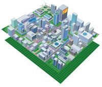 四角の都市とiot