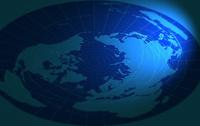 世界地図ブルーイメージ2