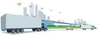 大型トラック-ドローン