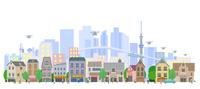街とドローン 22370000467| 写真素材・ストックフォト・画像・イラスト素材|アマナイメージズ