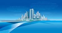 クラウド都市と光ファイバー 22370000486| 写真素材・ストックフォト・画像・イラスト素材|アマナイメージズ