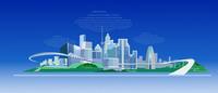 光ファイバー都市複数クラウド 22370000491| 写真素材・ストックフォト・画像・イラスト素材|アマナイメージズ