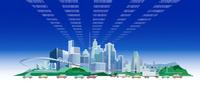 光ファイバー都市と車 22370000498| 写真素材・ストックフォト・画像・イラスト素材|アマナイメージズ