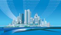ICT都市と光ファイバー 22370000499| 写真素材・ストックフォト・画像・イラスト素材|アマナイメージズ