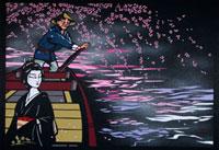 深川夜桜 22412000046| 写真素材・ストックフォト・画像・イラスト素材|アマナイメージズ