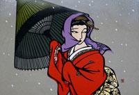 雪の日 22412000060| 写真素材・ストックフォト・画像・イラスト素材|アマナイメージズ