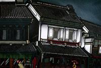 蔵街通りの雨