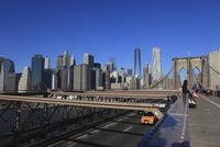 ブルックリンブリッジとマンハッタン摩天楼