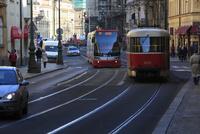 トラムが走る旧市街