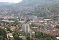 アヴァズツイストタワーから見たサラエボ市街俯瞰