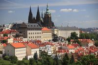 プラハ城聖ヴィート大聖堂と街並み