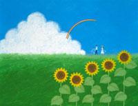 夏の風景 イラスト