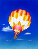 気球 イラスト 22451002263  写真素材・ストックフォト・画像・イラスト素材 アマナイメージズ