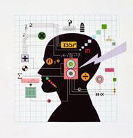 頭の設計図イメージ イラスト