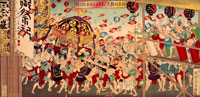 日本橋魚がし旧天王祭団扇投之図