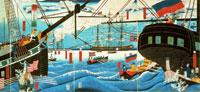 横浜交易西洋人荷物運送之図
