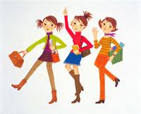 グループ女性イラスト