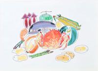 食材イラスト 22451009493| 写真素材・ストックフォト・画像・イラスト素材|アマナイメージズ
