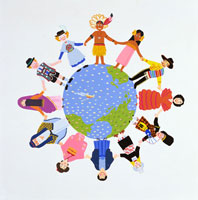 世界各国の人々イラスト 22451010964| 写真素材・ストックフォト・画像・イラスト素材|アマナイメージズ