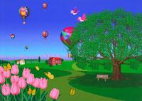 春の街イメージ