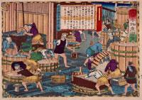 三代広重 大日本物産図会 伊丹酒造之図