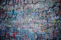 落書きされた壁