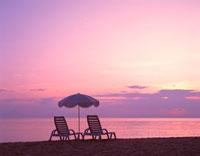 夕暮れのビーチ 22451017580| 写真素材・ストックフォト・画像・イラスト素材|アマナイメージズ