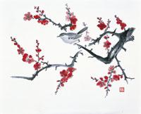 梅に鶯のイラスト
