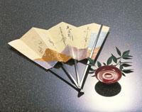盃と扇子 22451021354| 写真素材・ストックフォト・画像・イラスト素材|アマナイメージズ
