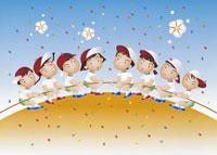 綱引きの運動会のイラスト 22451021847| 写真素材・ストックフォト・画像・イラスト素材|アマナイメージズ