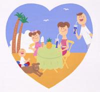 家族・イラスト 22451023500| 写真素材・ストックフォト・画像・イラスト素材|アマナイメージズ