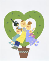 家族・イラスト 22451023509| 写真素材・ストックフォト・画像・イラスト素材|アマナイメージズ