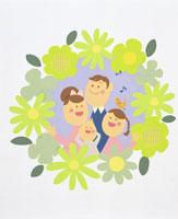 家族・イラスト 22451023510| 写真素材・ストックフォト・画像・イラスト素材|アマナイメージズ