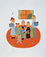 家族・イラスト 22451023581| 写真素材・ストックフォト・画像・イラスト素材|アマナイメージズ