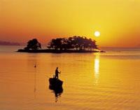 嫁が島と宍道湖