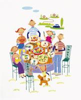 ピクニック イラスト 22451029688| 写真素材・ストックフォト・画像・イラスト素材|アマナイメージズ
