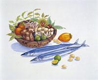 秋の味覚 イラスト