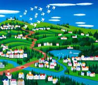 街の風景 イラスト