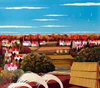 秋の田園風景 イラスト 22451031336| 写真素材・ストックフォト・画像・イラスト素材|アマナイメージズ