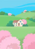 春の風景 イラスト