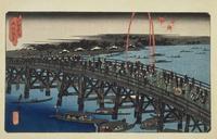江戸名所 両国夜ノ景 22451034318| 写真素材・ストックフォト・画像・イラスト素材|アマナイメージズ
