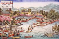 厳島神社管絃祭之図 22451034331| 写真素材・ストックフォト・画像・イラスト素材|アマナイメージズ
