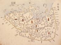 安芸の国古地図 22451034332| 写真素材・ストックフォト・画像・イラスト素材|アマナイメージズ