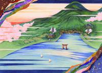 平安の雅イラスト安芸宮島 22451034337| 写真素材・ストックフォト・画像・イラスト素材|アマナイメージズ