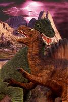 闘うティラノサウルス