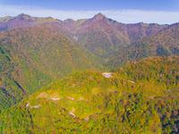 ドローンによる霊峰石鎚山と紅葉 22451035471| 写真素材・ストックフォト・画像・イラスト素材|アマナイメージズ