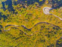 ドローンによる石鎚スカイラインの俯瞰 22451035472| 写真素材・ストックフォト・画像・イラスト素材|アマナイメージズ