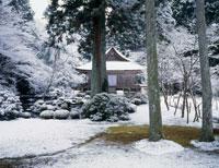 三千院庭園 雪景色