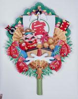 大黒天と宝船を飾った団扇 クラフト
