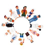 さまざまな職種の人の集合 22497000136| 写真素材・ストックフォト・画像・イラスト素材|アマナイメージズ